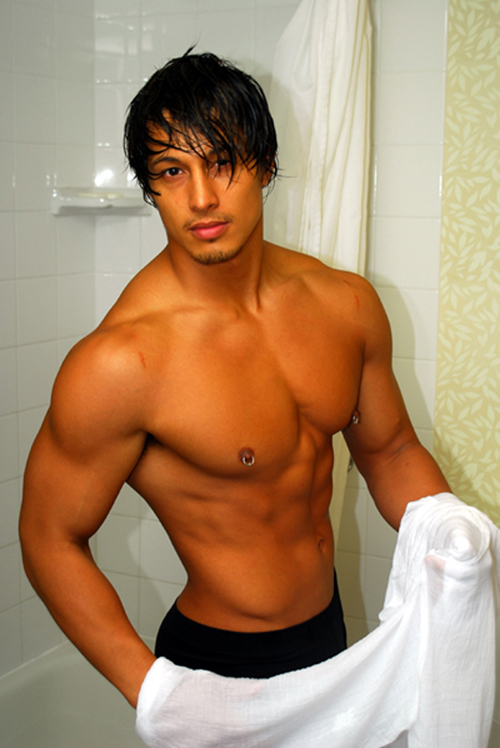 Filipino-American stud, JC, has a smooth muscular beautiful body