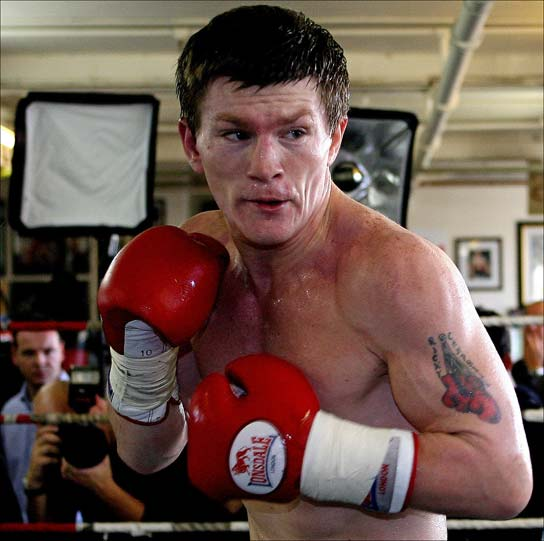 English Professional Boxer Ricky Hatton