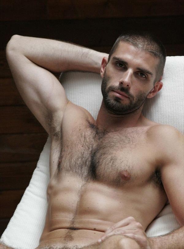 hairy fitness model