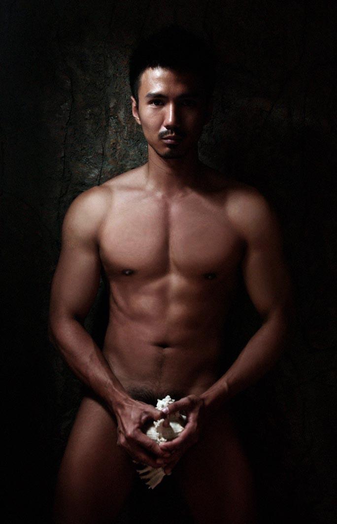 Naked malay male model