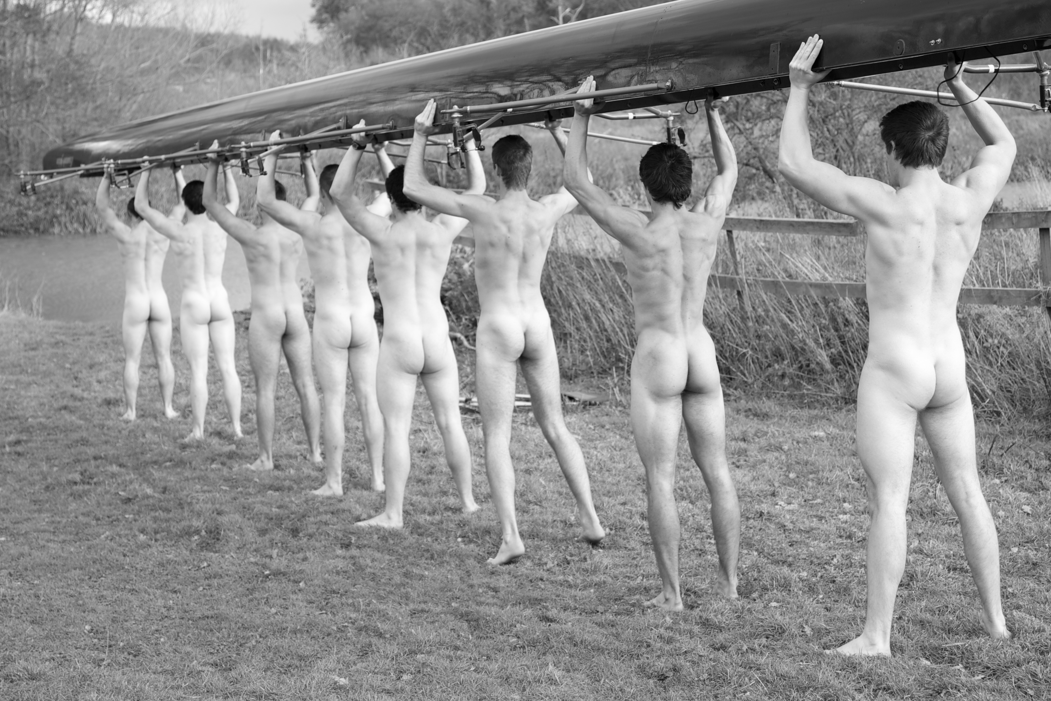 Warwick university men's rowing team strip naked in photo for charity calendar