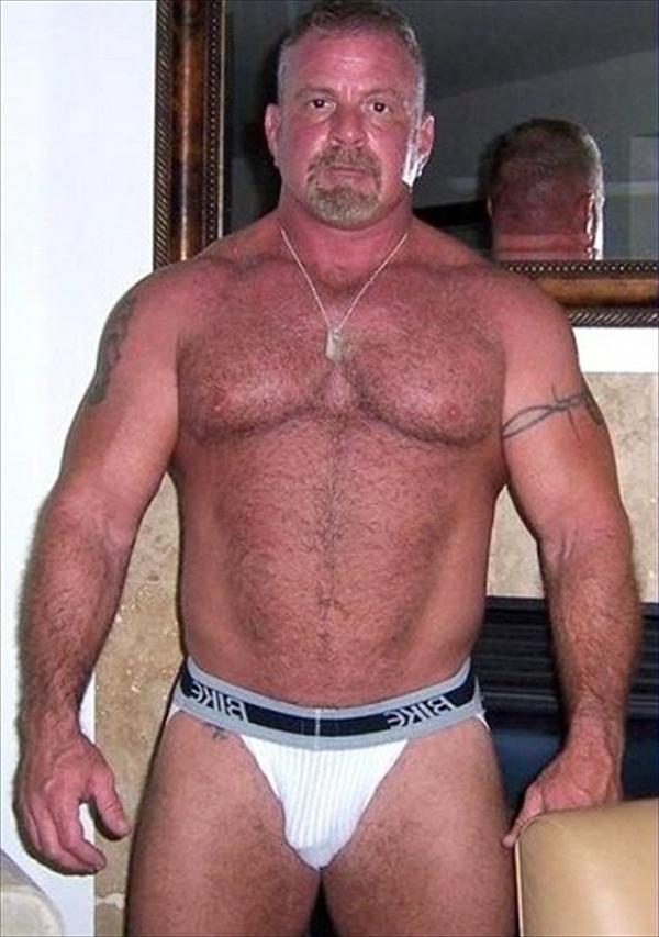 Older gay muscle men